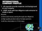 international company profile