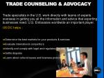 trade counseling advocacy