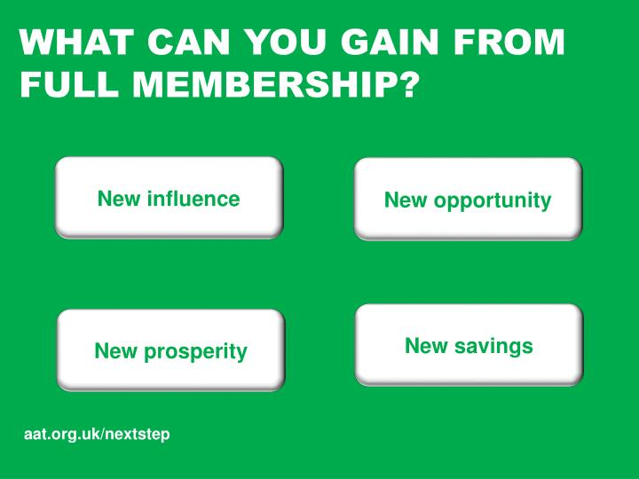 Ppt aat full membership whats in it for you powerpoint what can you gain from full membership spiritdancerdesigns Choice Image