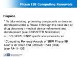 phase iib competing renewals
