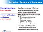 technical assistance programs