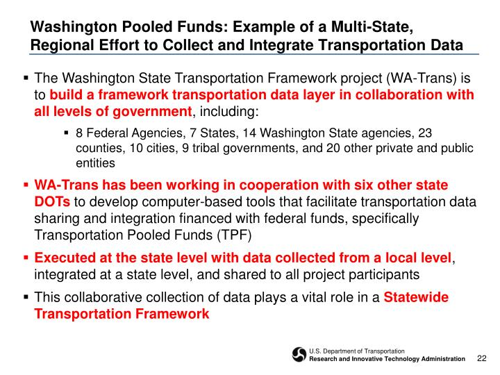 Washington Pooled Funds: Example of a Multi-State,