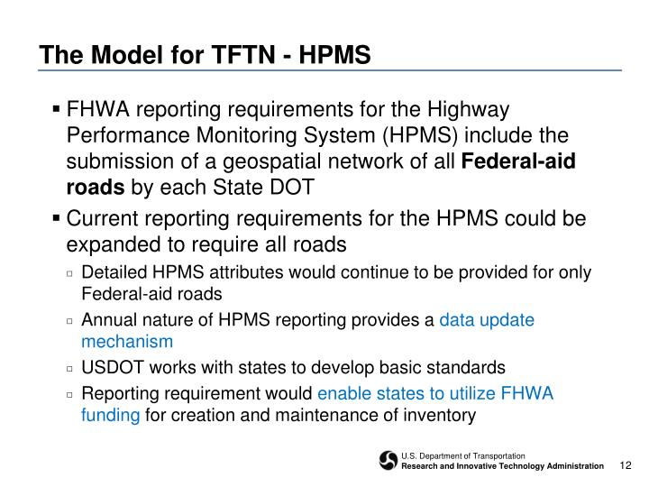 The Model for TFTN - HPMS