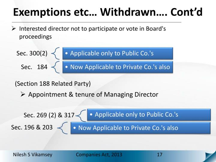 Interested director not to participate or vote in Board's proceedings