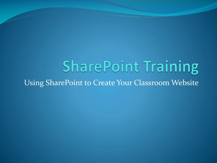 sharepoint training n.