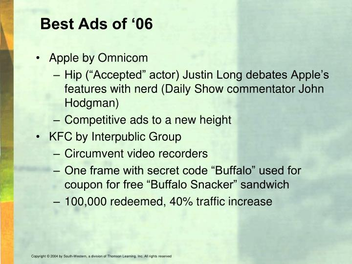 Best Ads of '06