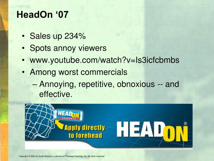 HeadOn '07