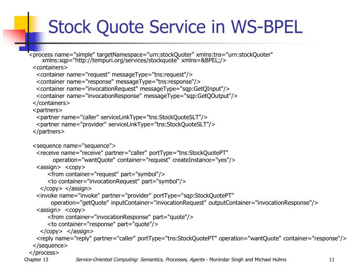 Stock Quote Service in WS-BPEL