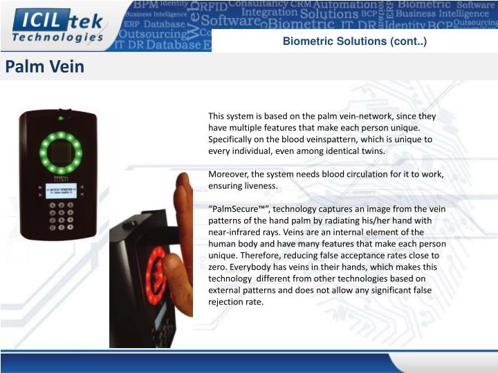 Biometric Solutions (cont