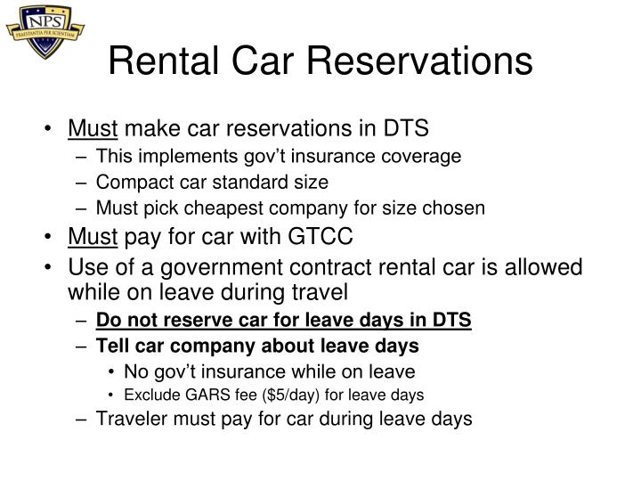 Rental Car Reservations