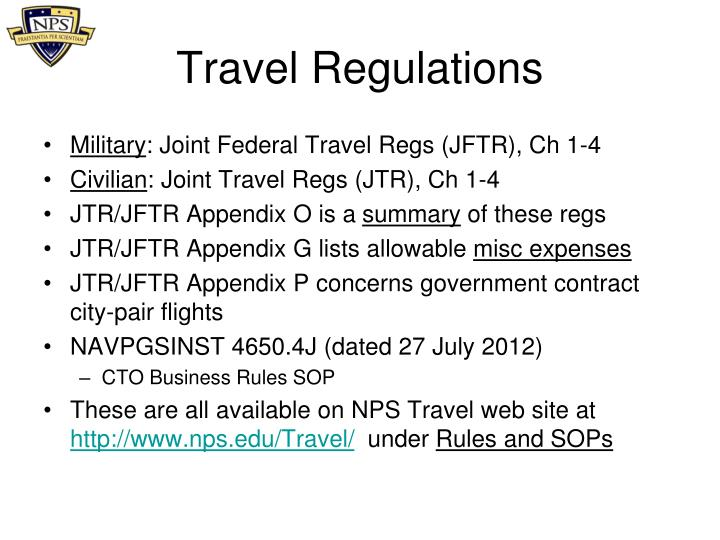 Travel Regulations