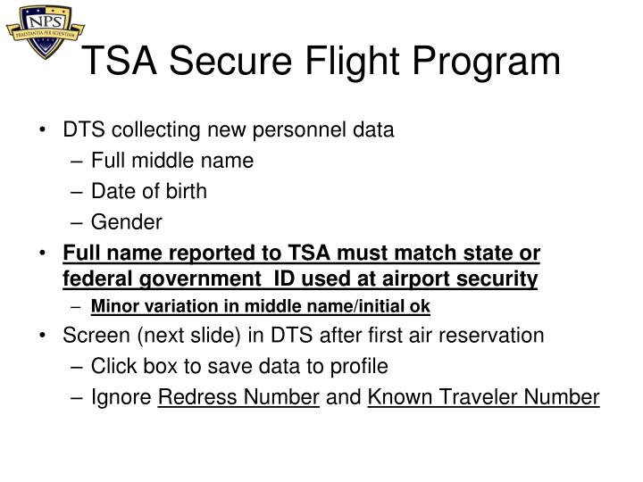 TSA Secure Flight Program