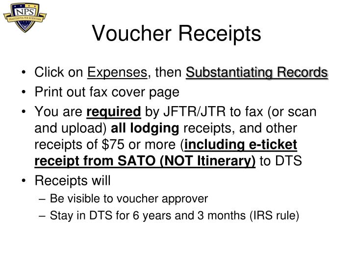 Voucher Receipts