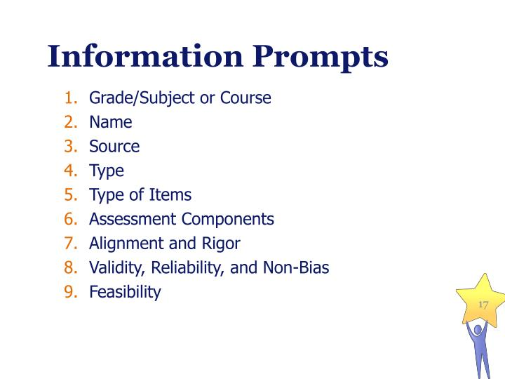 Information Prompts