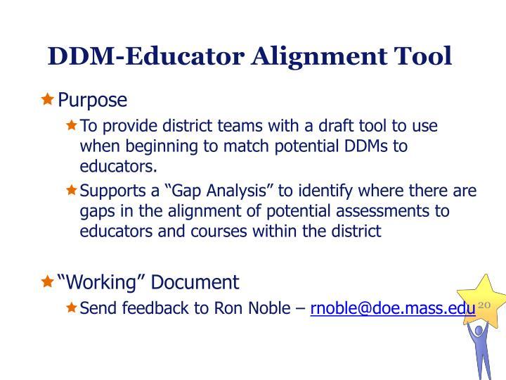 DDM-Educator Alignment Tool