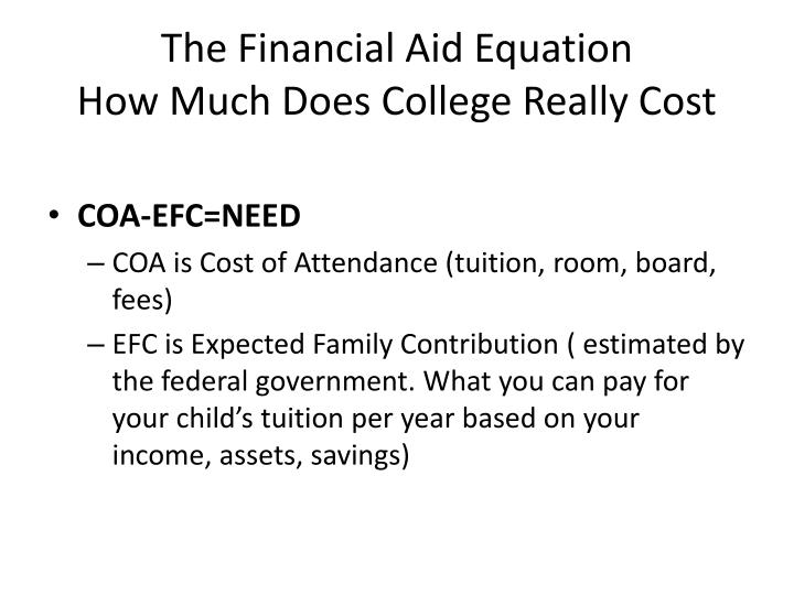 The Financial Aid Equation