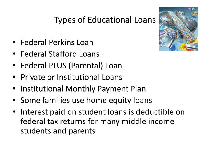 Types of Educational Loans
