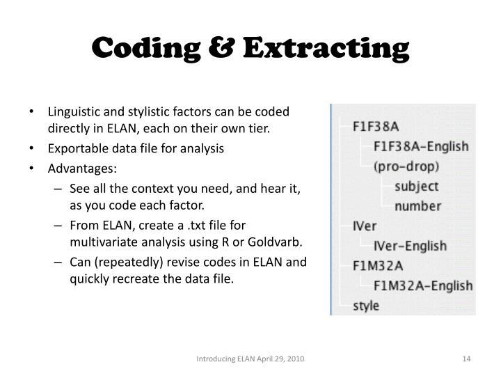 Coding & Extracting