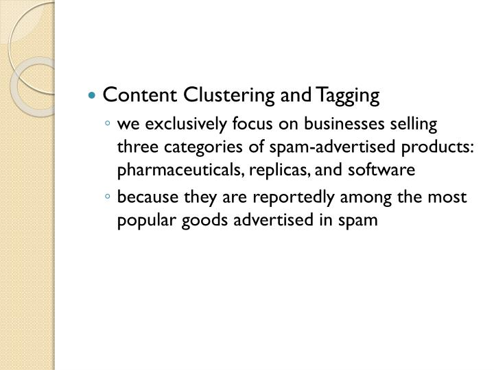 Content Clustering and