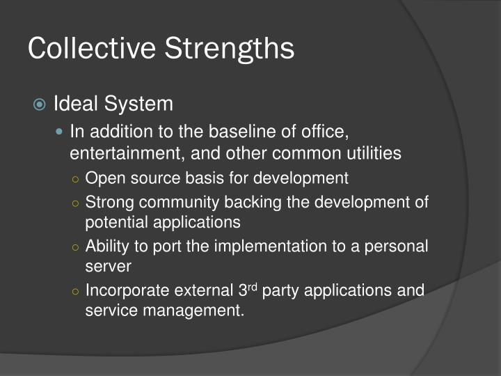 Collective Strengths