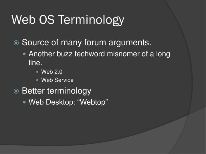 Web OS Terminology