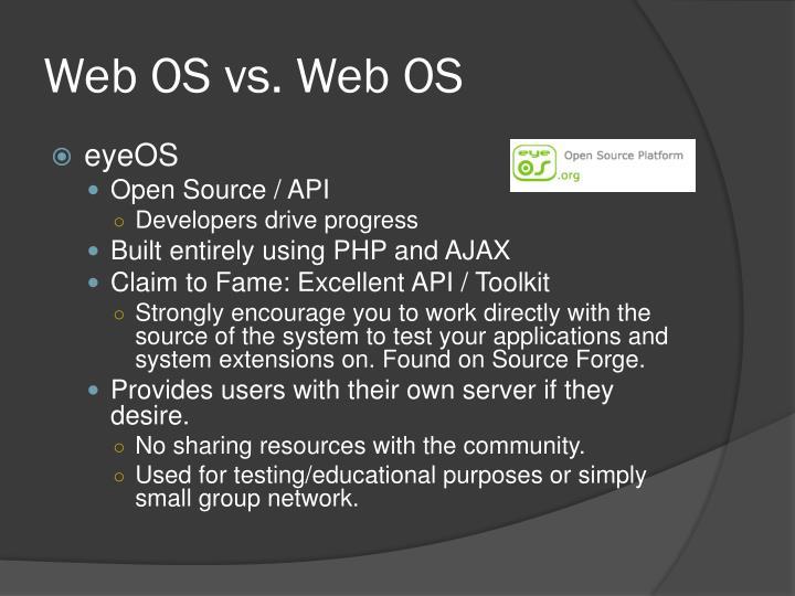 Web OS vs. Web OS