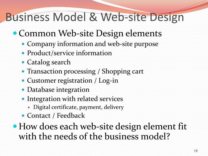 Business Model & Web-site Design