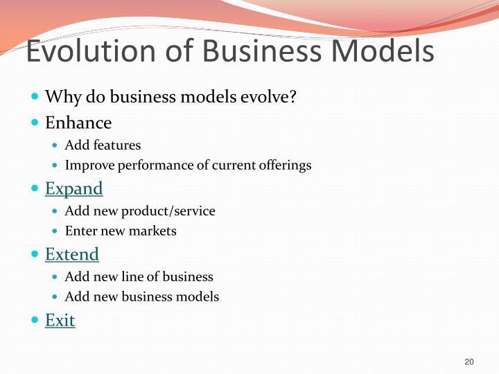Evolution of Business Models