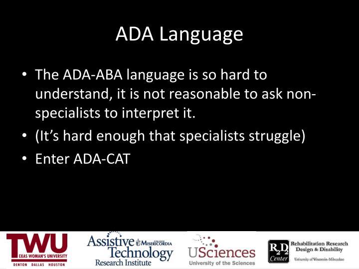 ADA Language