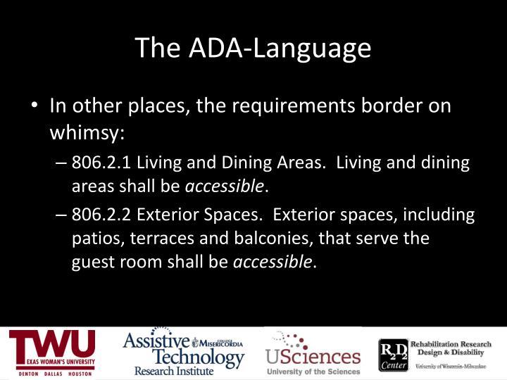 The ADA-Language