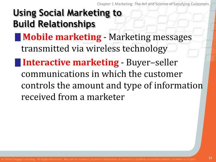 Using Social Marketing to