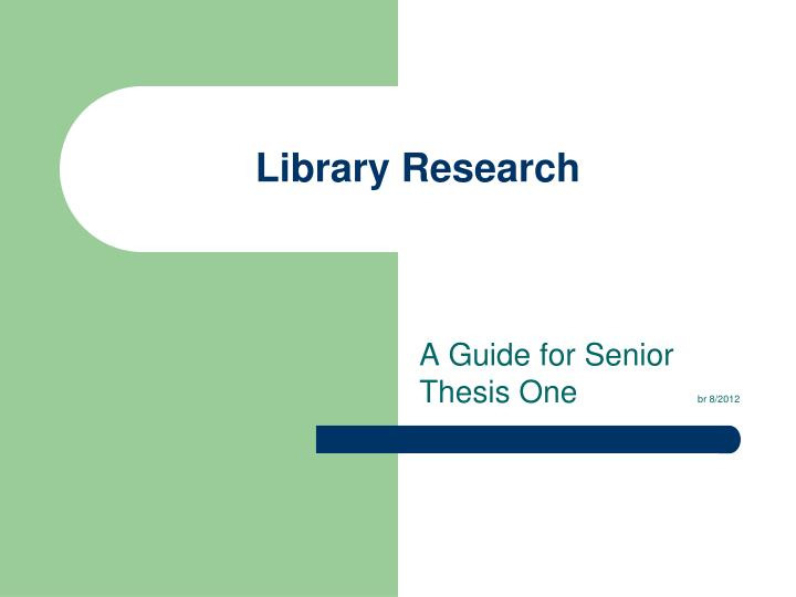 library research n.