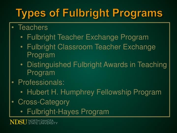 Types of Fulbright