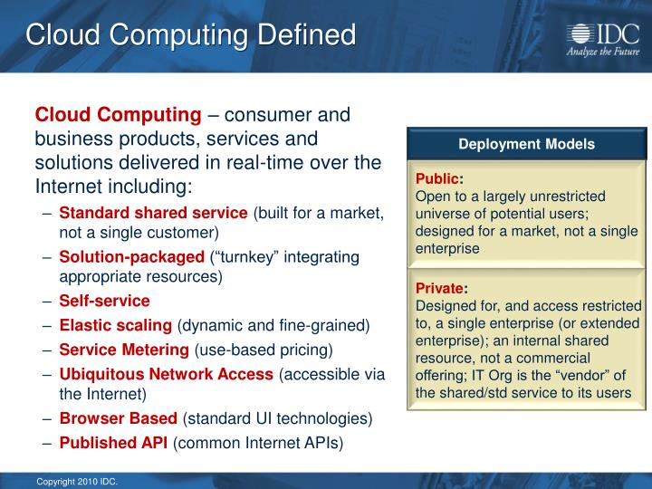 Cloud Computing Defined