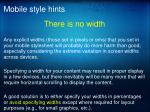 mobile style hints2