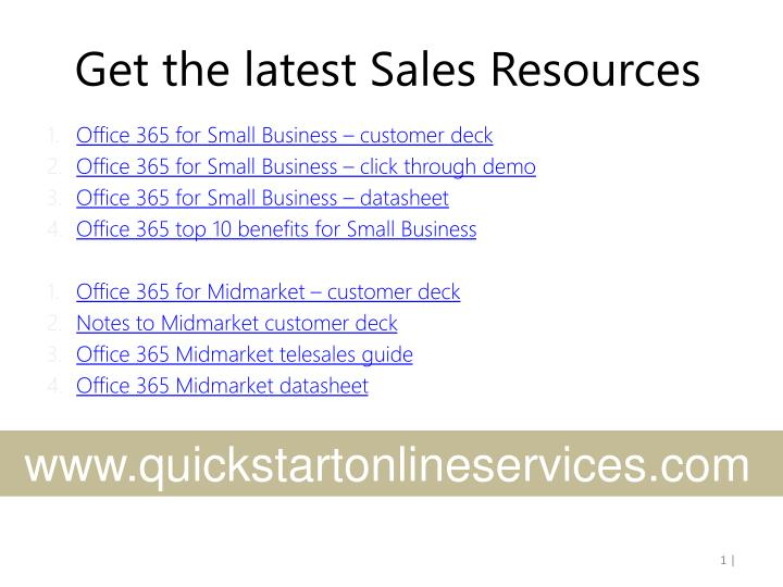 Get the latest sales resources
