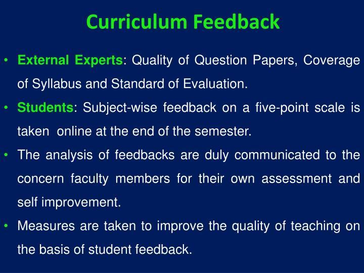 Curriculum Feedback