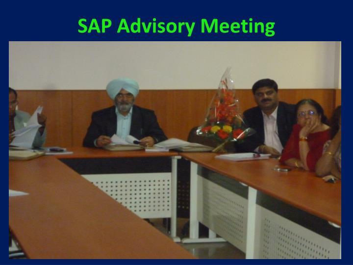 SAP Advisory Meeting