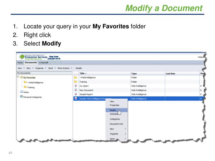 Modify a Document