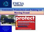 consumer protection and taking on moving fraud