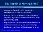 the impact of moving fraud