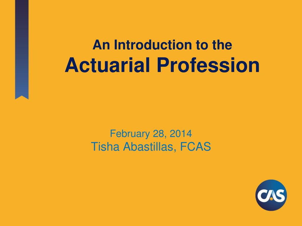ppt an introduction to the actuarial profession powerpoint