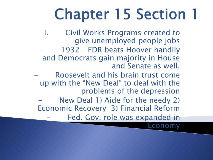 chapter 15 section 1 n.