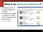 what is an electronic storefront