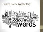 content area vocabulary