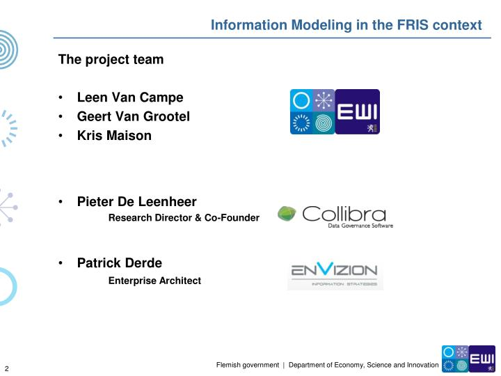 Information modeling in the fris context