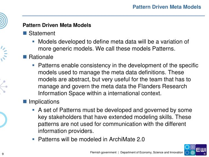 Pattern Driven Meta Models