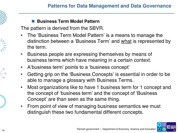 Patterns for Data Management and Data