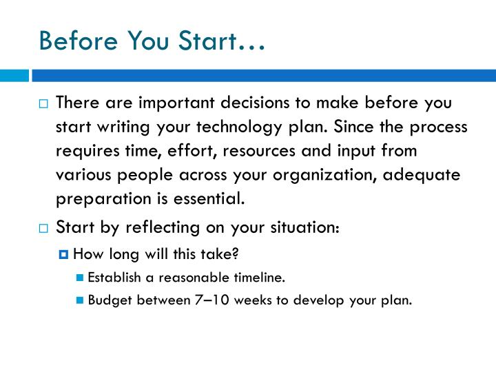 Before You Start…