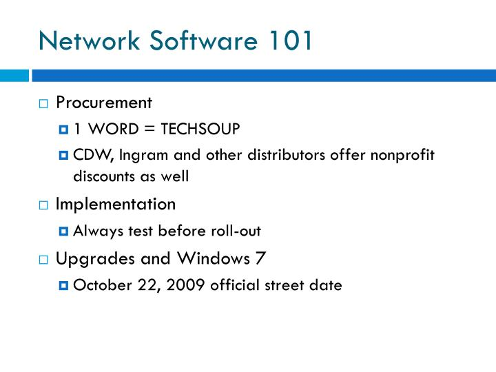 Network Software 101